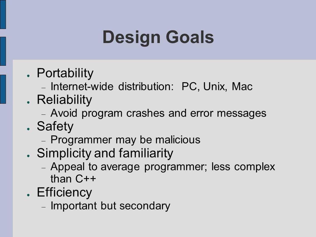 Java s Success ● What did make Java so successful.