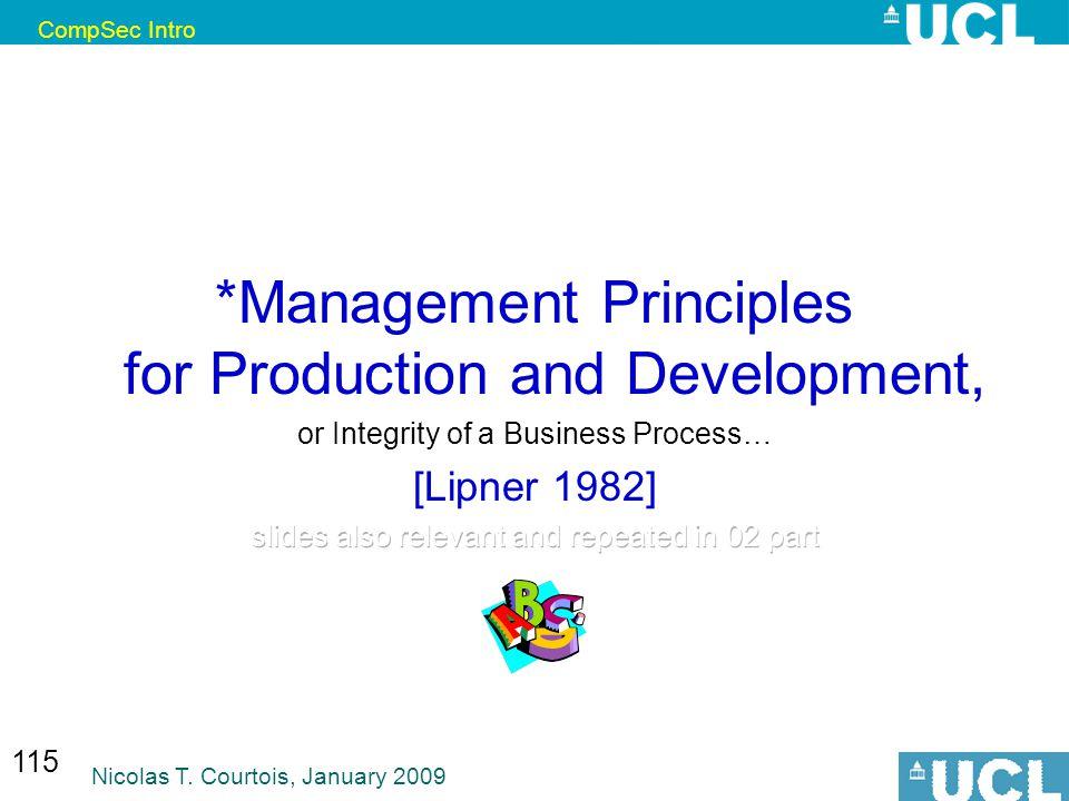 CompSec Intro Nicolas T. Courtois, January 2009 115