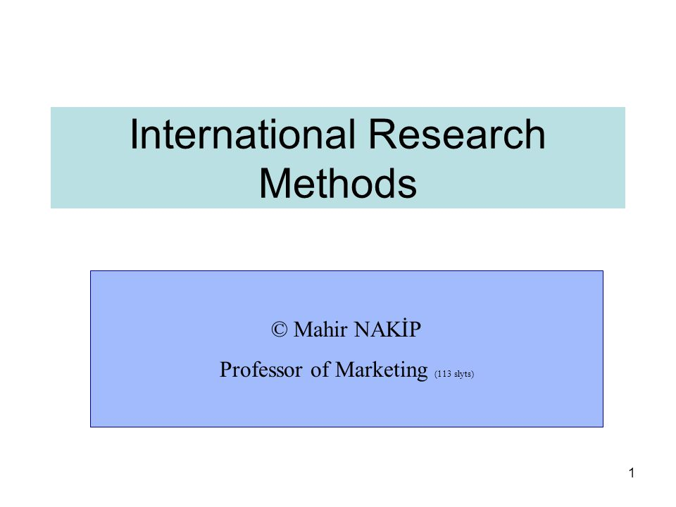 Classification of marketing research 52