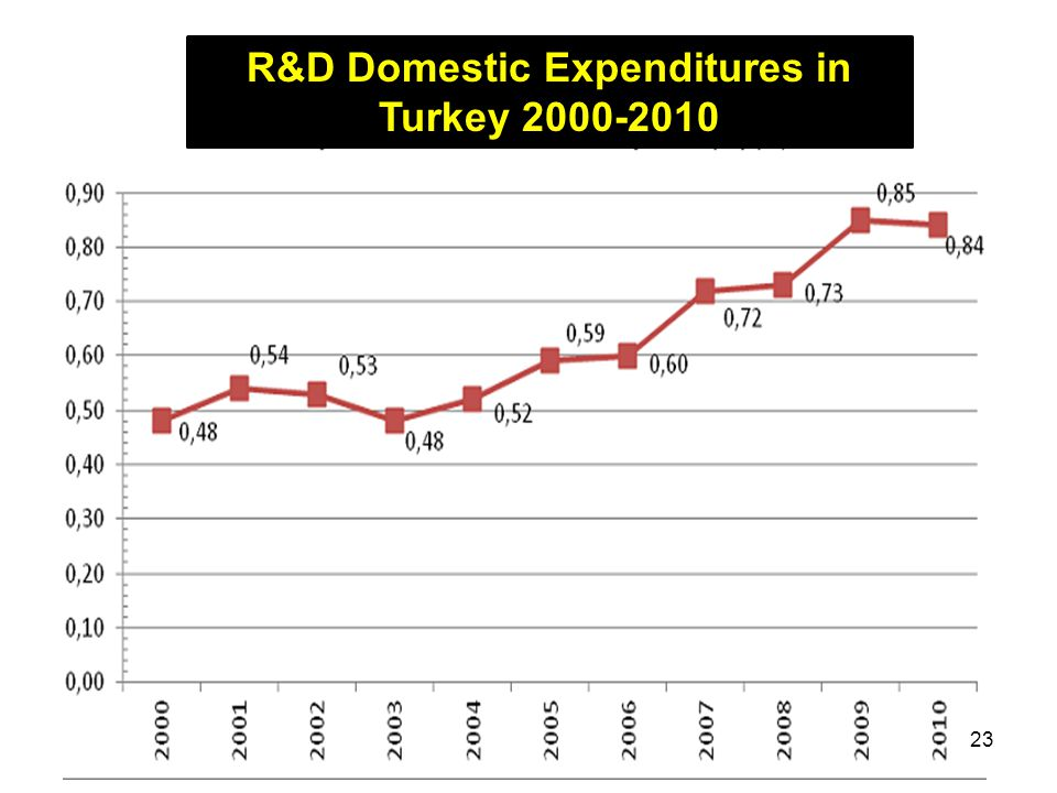 R&D Domestic Expenditures in Turkey 2000-2010 23