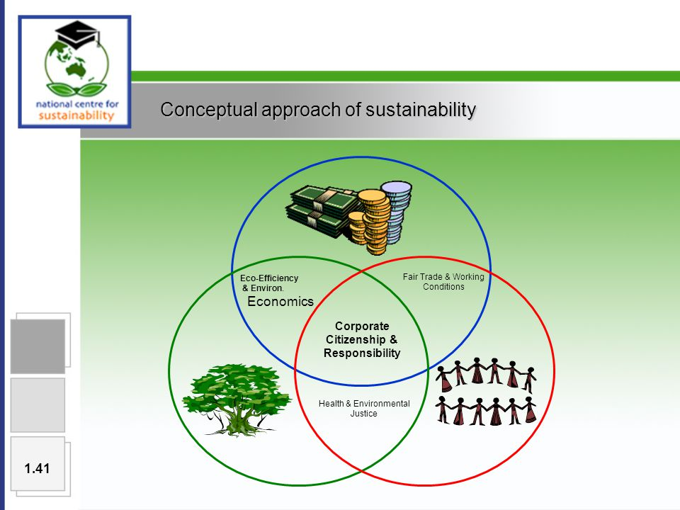 Conceptual approach of sustainability Eco-Efficiency & Environ.