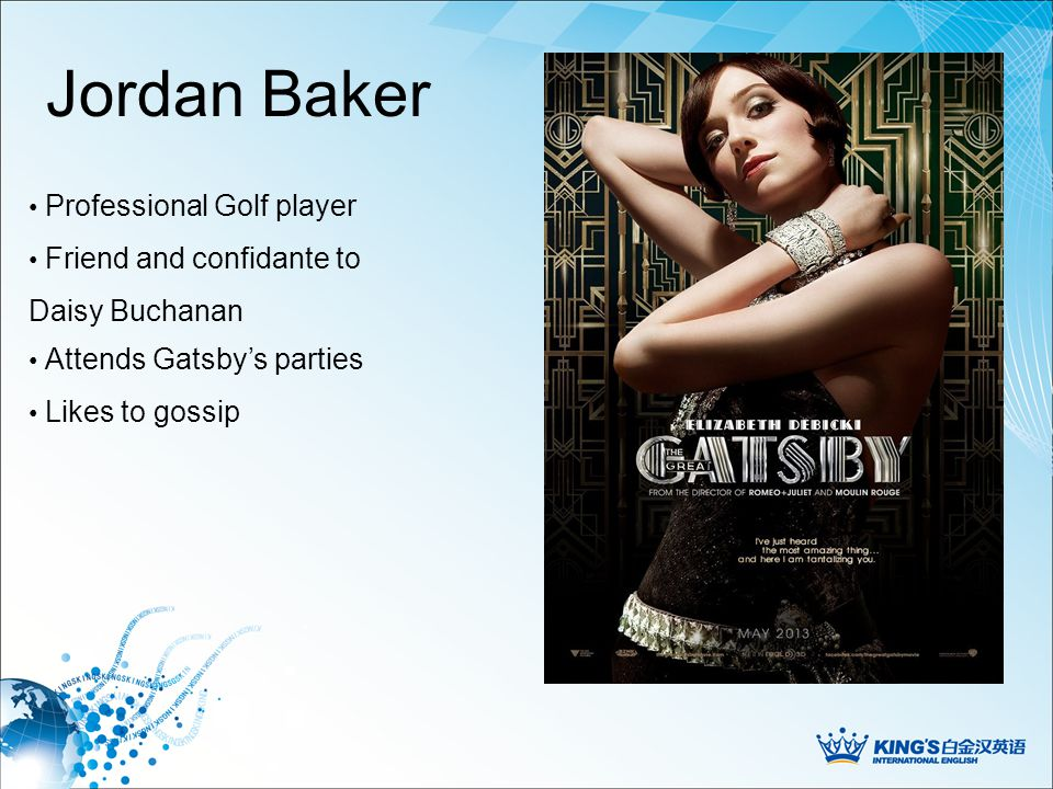 Gatsby's Party …they conducted themselves according to the rules of behavior associated with an amusement park.