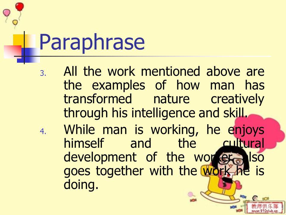 Paraphrase 3.