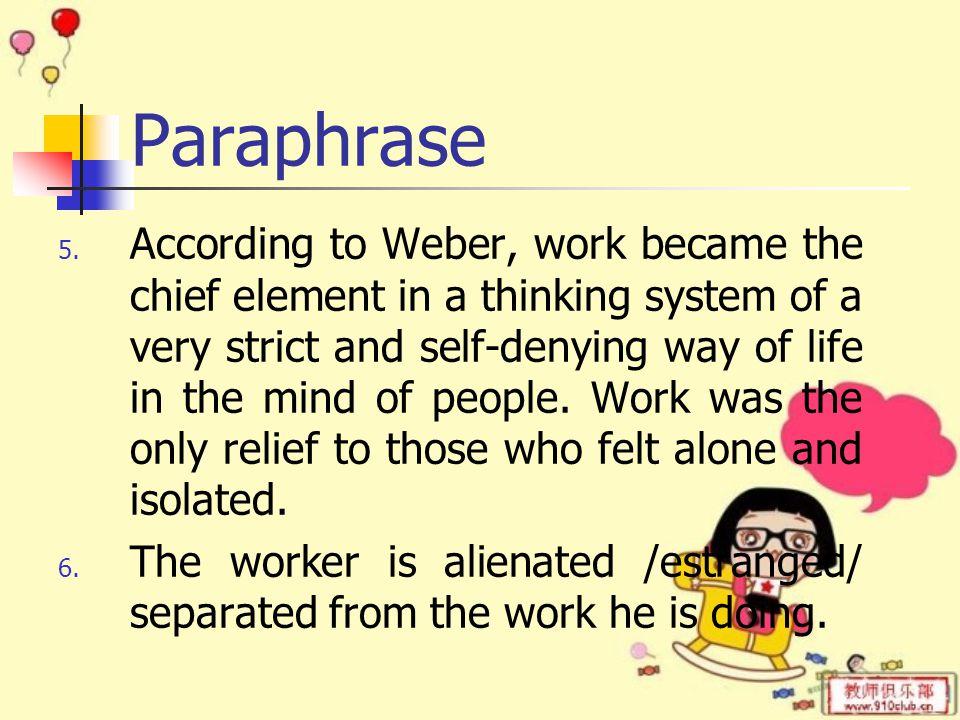 Paraphrase 5.