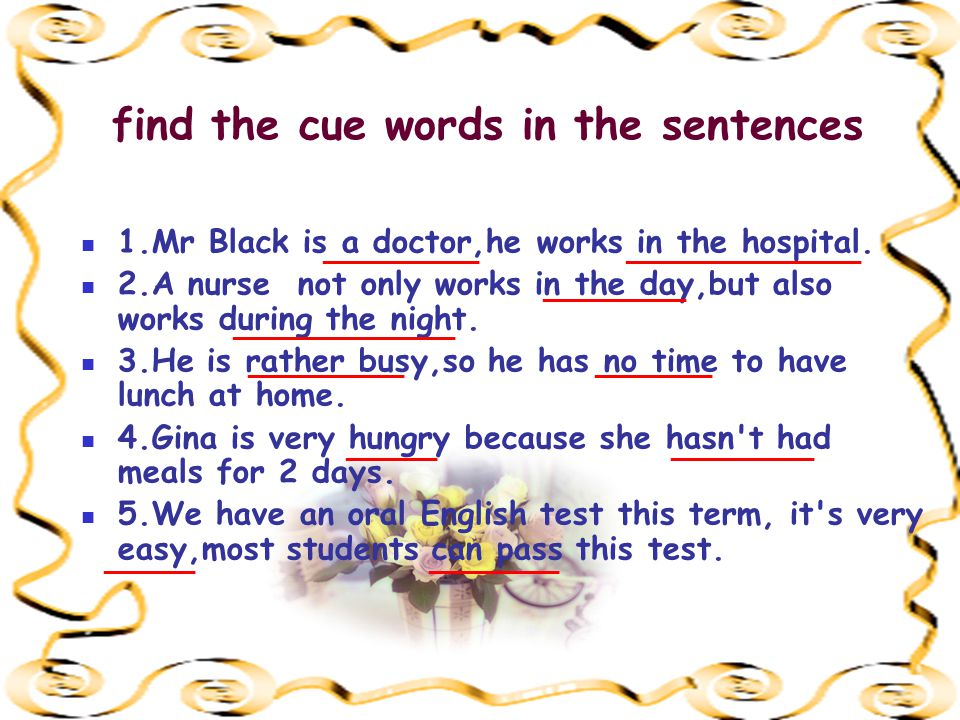challenge your memory 1.Mr Black is a doctor,he works in the_______.