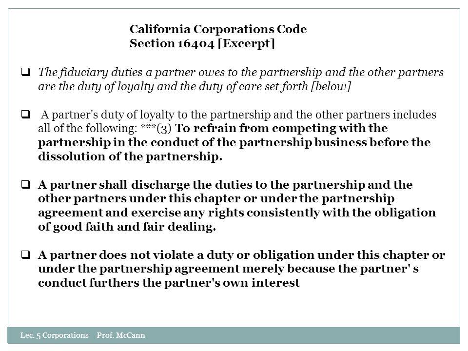 Lec. 5 Corporations Prof.