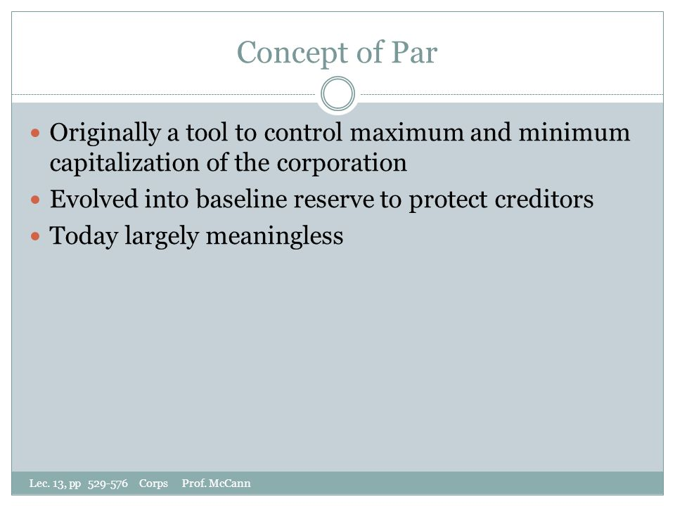 Concept of Par Lec. 13, pp 529-576 Corps Prof.