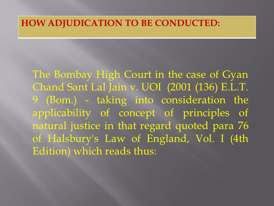 The Bombay High Court in the case of Gyan Chand Sant Lal Jain v. UOI (2001 (136) E.L.T. 9 (Bom.) - taking into consideration the applicability of conc