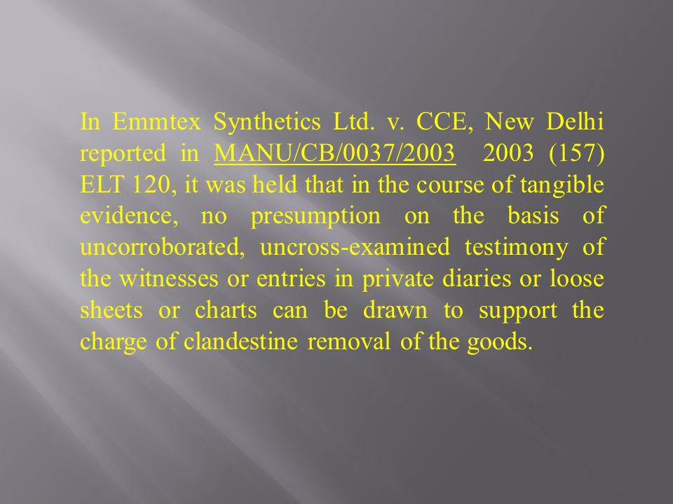 In Emmtex Synthetics Ltd. v.