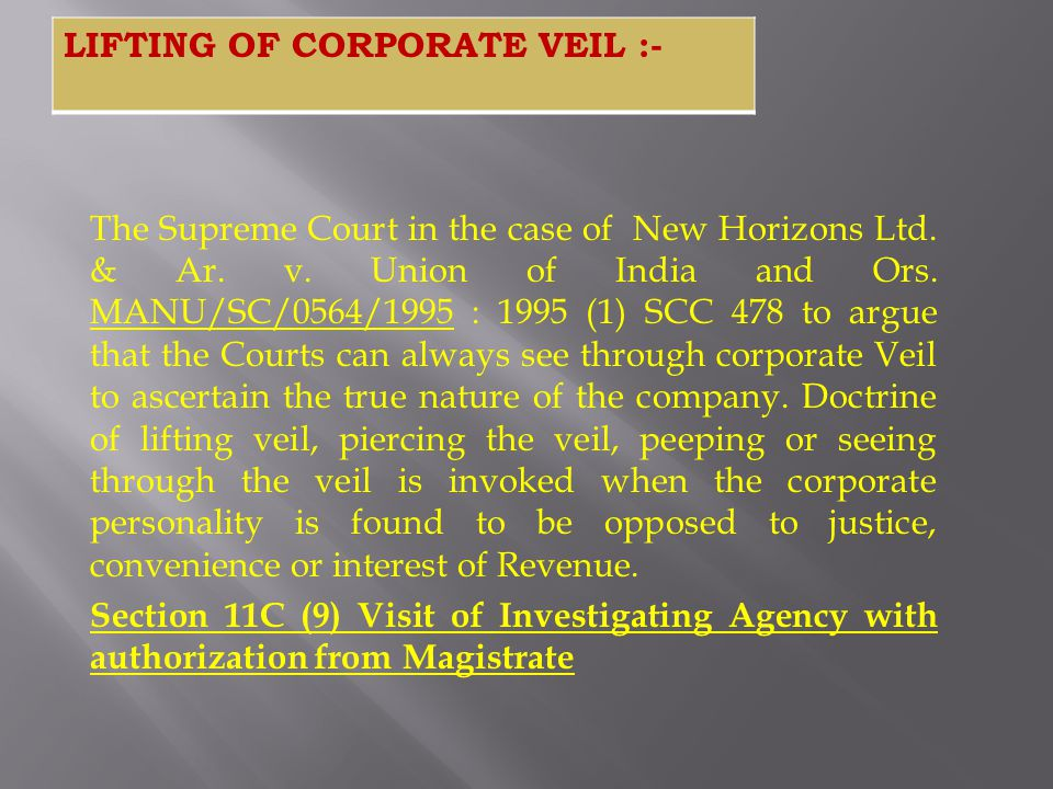 The Supreme Court in the case of New Horizons Ltd. & Ar. v. Union of India and Ors. MANU/SC/0564/1995 : 1995 (1) SCC 478 to argue that the Courts can
