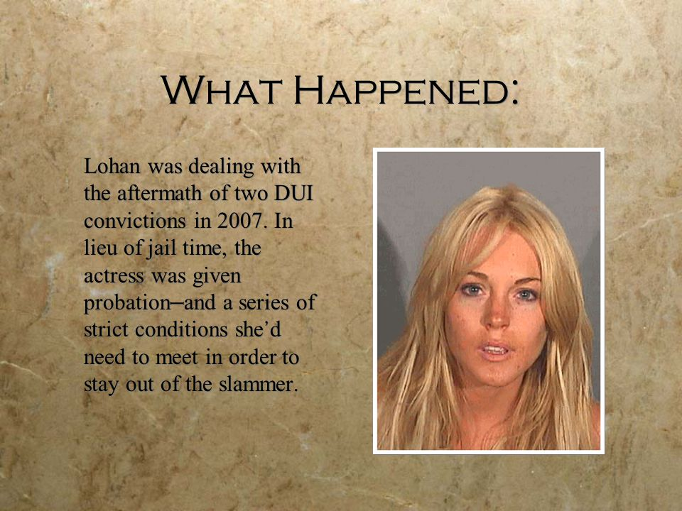 What Happened: After several suspected violations of her probation, Lohan was ordered to court this May — but she failed to appear in court.