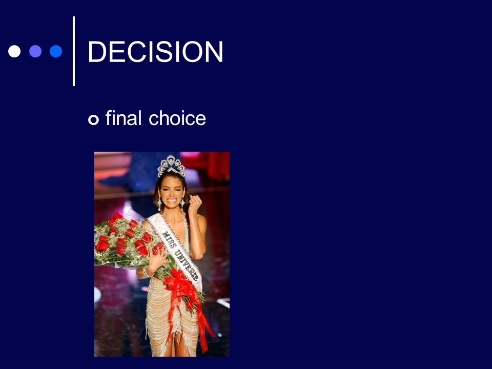 DECISION final choice