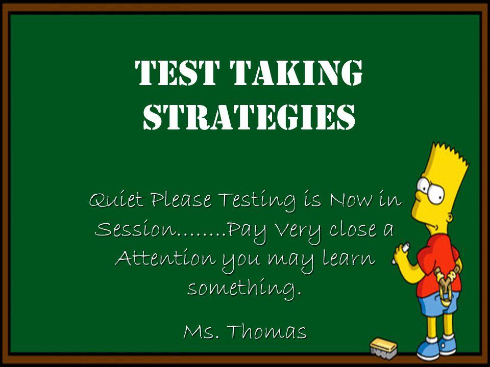 Quiet Please Testing Sign Slide 1