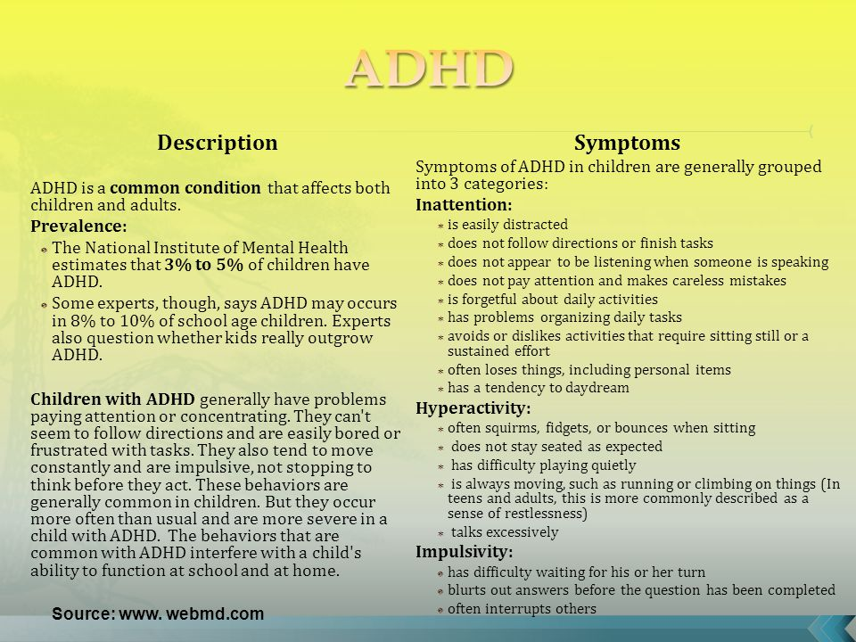 Description ADHD is a common condition that affects both children and adults.