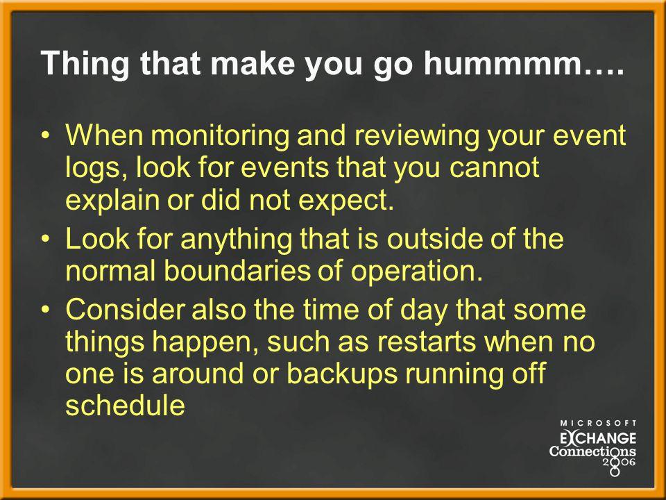 Thing that make you go hummmm….