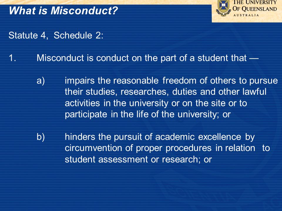 What is Misconduct.
