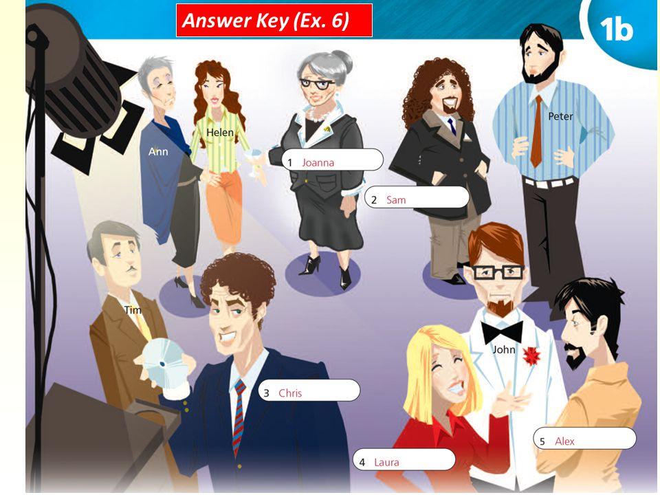 Answer Key (Ex. 6)