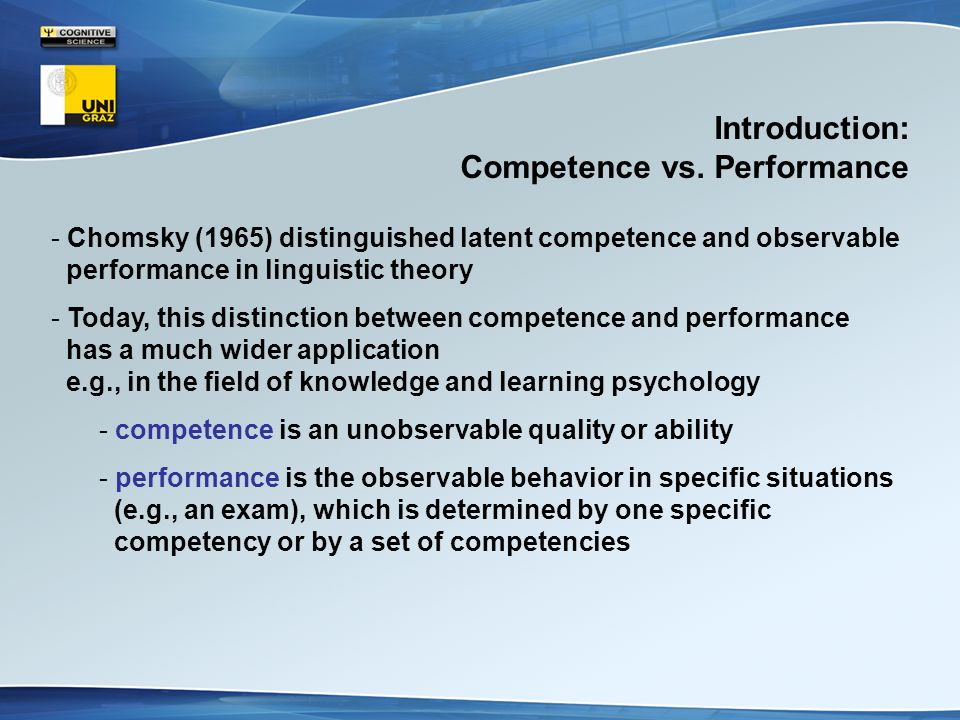 Introduction: Competence vs.