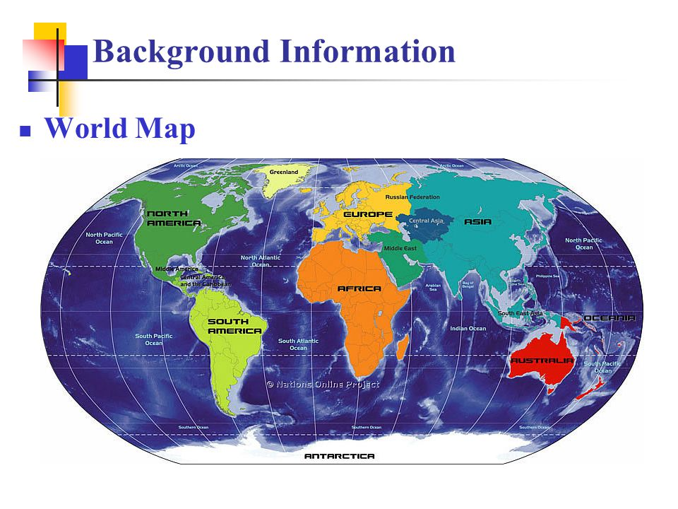 Background Information World Map