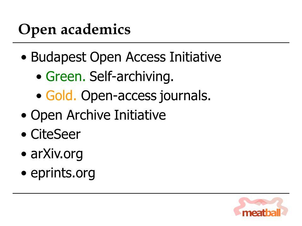 Open academics Budapest Open Access Initiative Green.