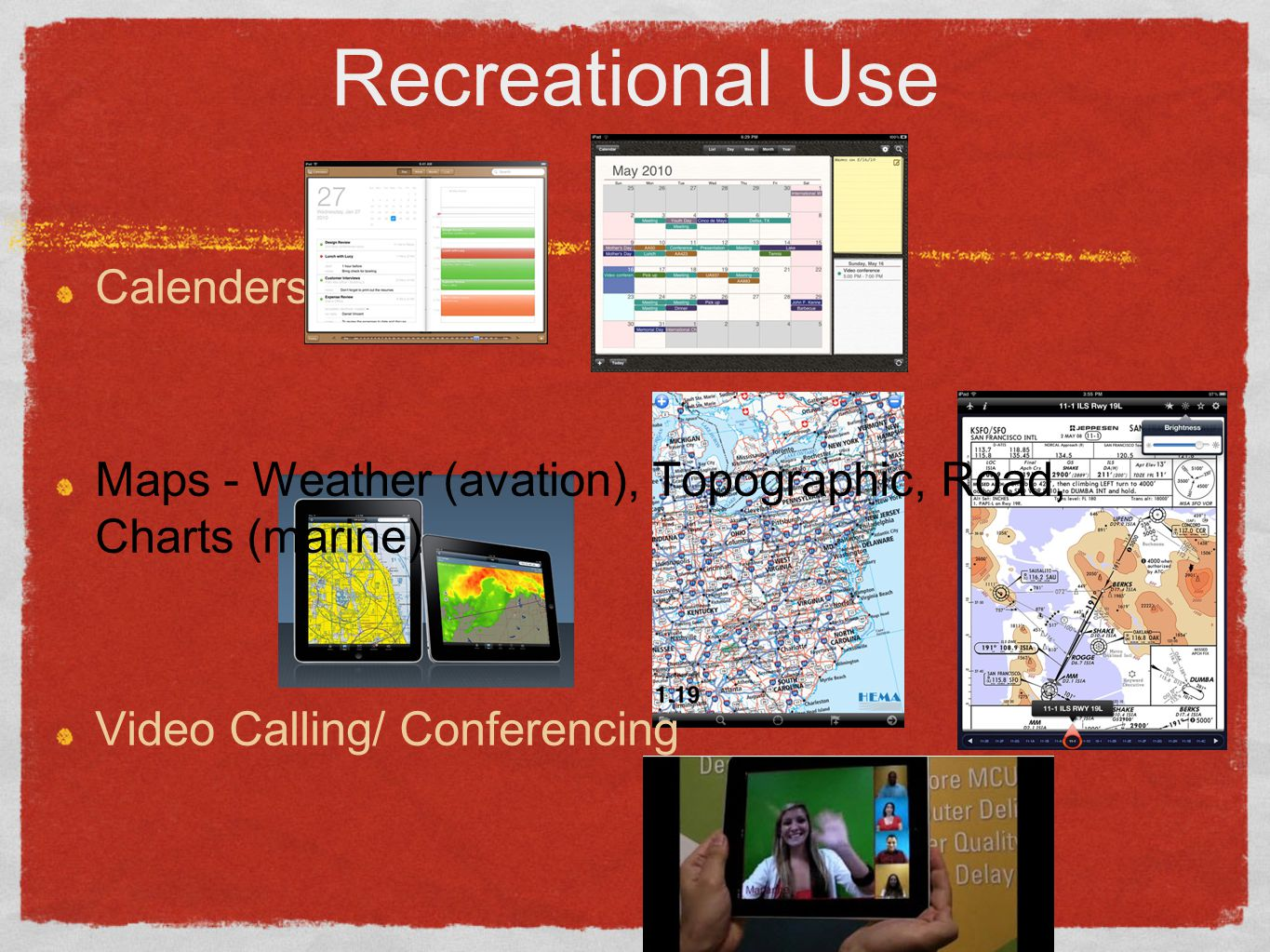 Recreational Use (Part deux) Games Garage Band - Plug in or use Apple TV, Airplay