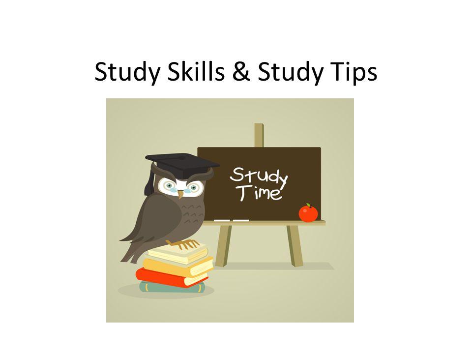 Study Skills & Study Tips