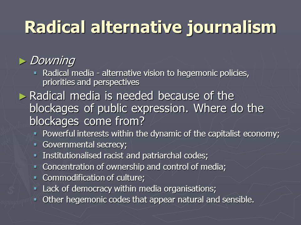 Alternative public sphere or sphere of multiple alternative publics.