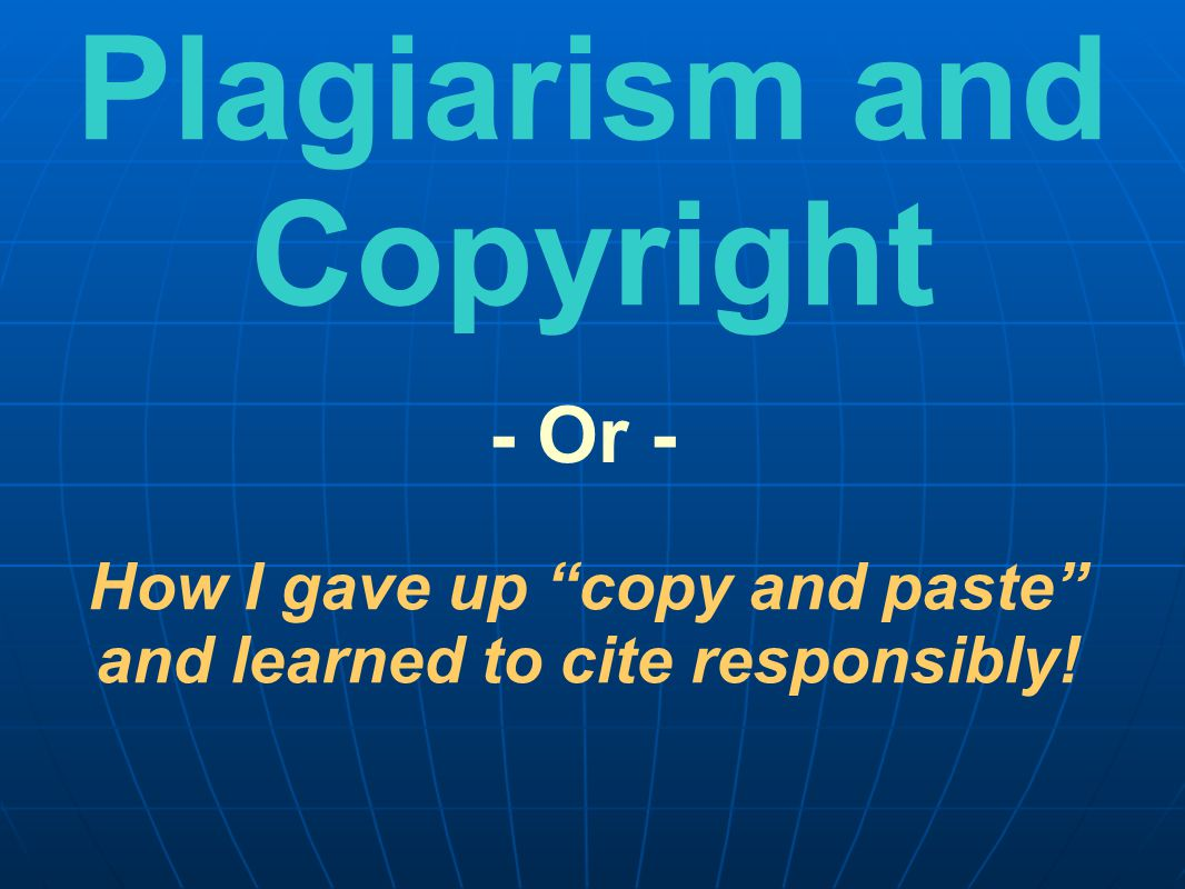 To help you understand Plagiarism To show you how to keep from plagiarizing when you do your school projects Two reasons for this PowerPoint