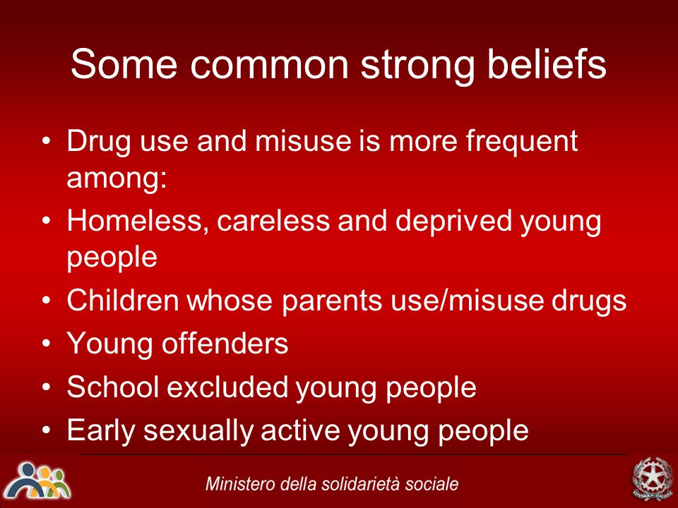 Some uncomfortable facts Inclusion criteria are not seen a definitive pre-cursor to problematic drug use Not all young people experiencing same factors became users/abusers Resilience