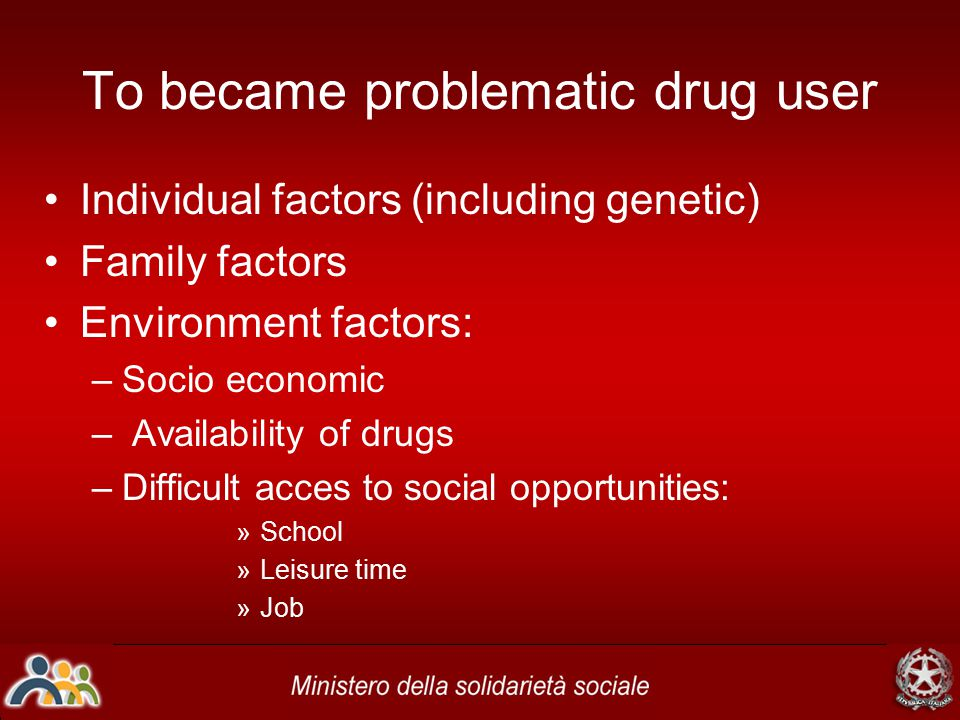 From an old drug expert Claude Olievenstien ('70s): Drug does'nt make addict It is addict who makes drug