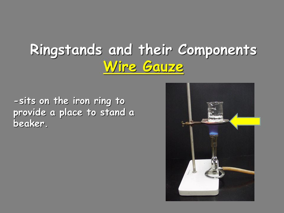 Ringstands and their Components Utility Clamps - used to secure test tubes, distillation columns, and burets to the ringstand.