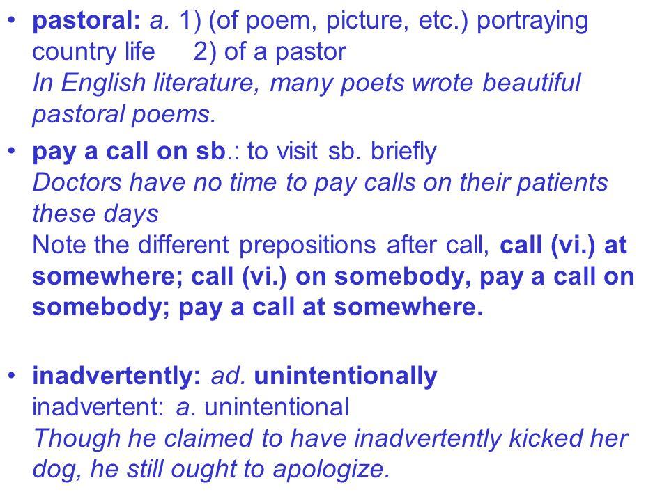 pastoral: a.