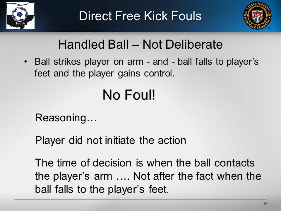 25 Direct Free Kick Fouls No Foul. No Foul.