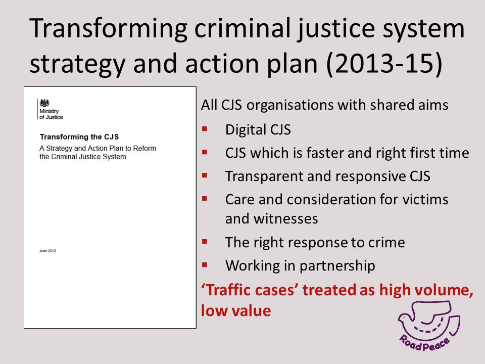 Transforming criminal justice system strategy and action plan (2013-15) All CJS organisations with shared aims  Digital CJS  CJS which is faster and