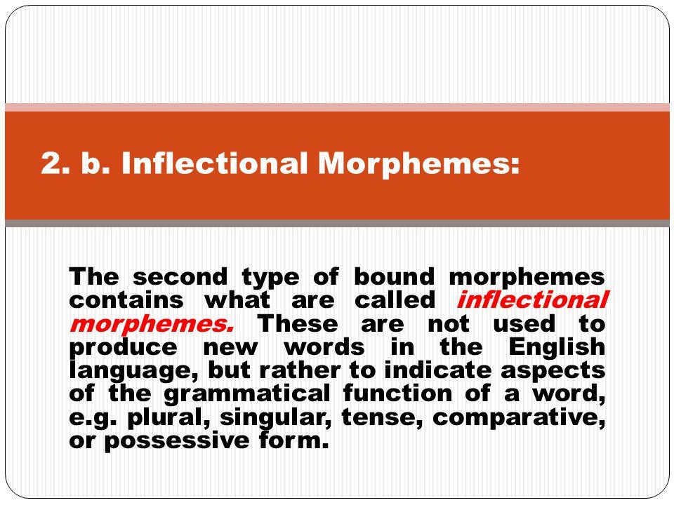 English has eight inflectional morphemes.