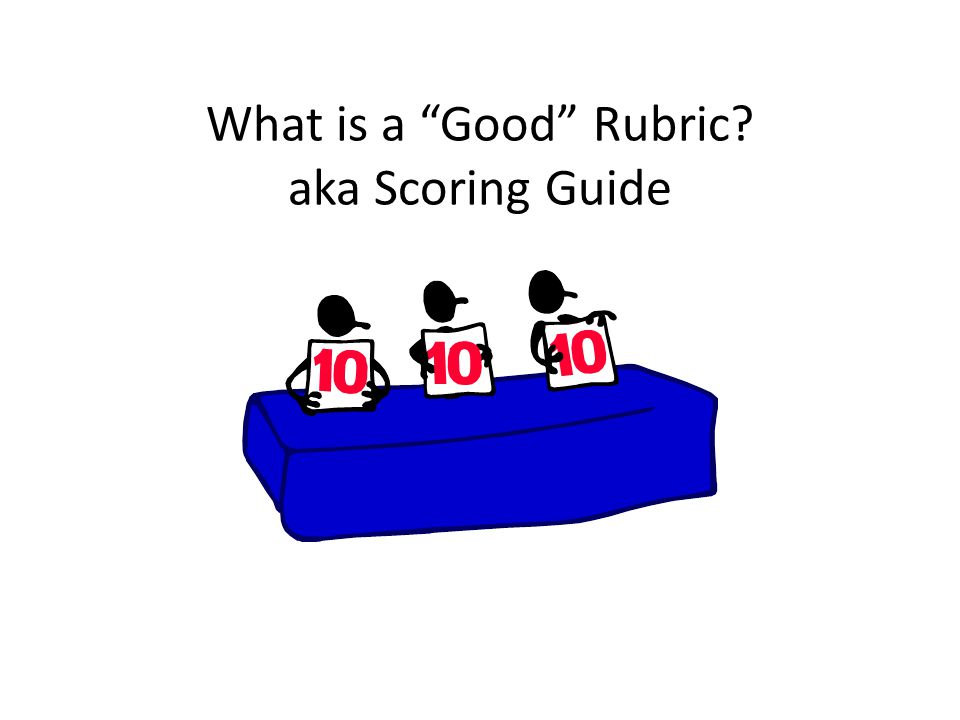 What is a Good Rubric aka Scoring Guide