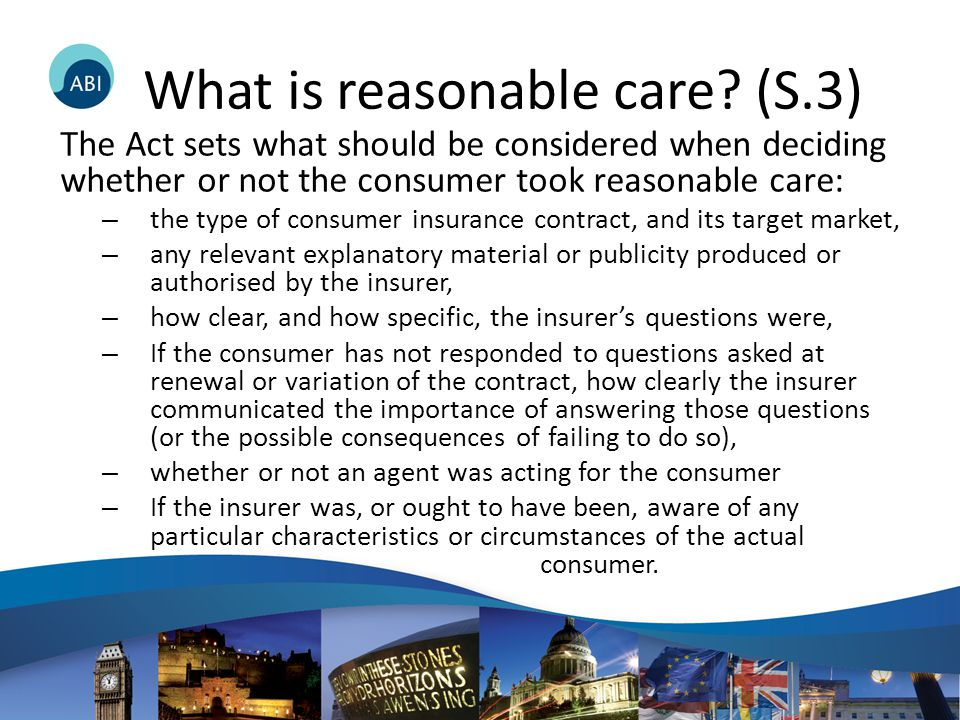 What is reasonable care.