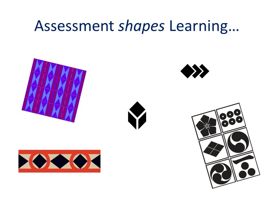 Assessment shapes Learning…