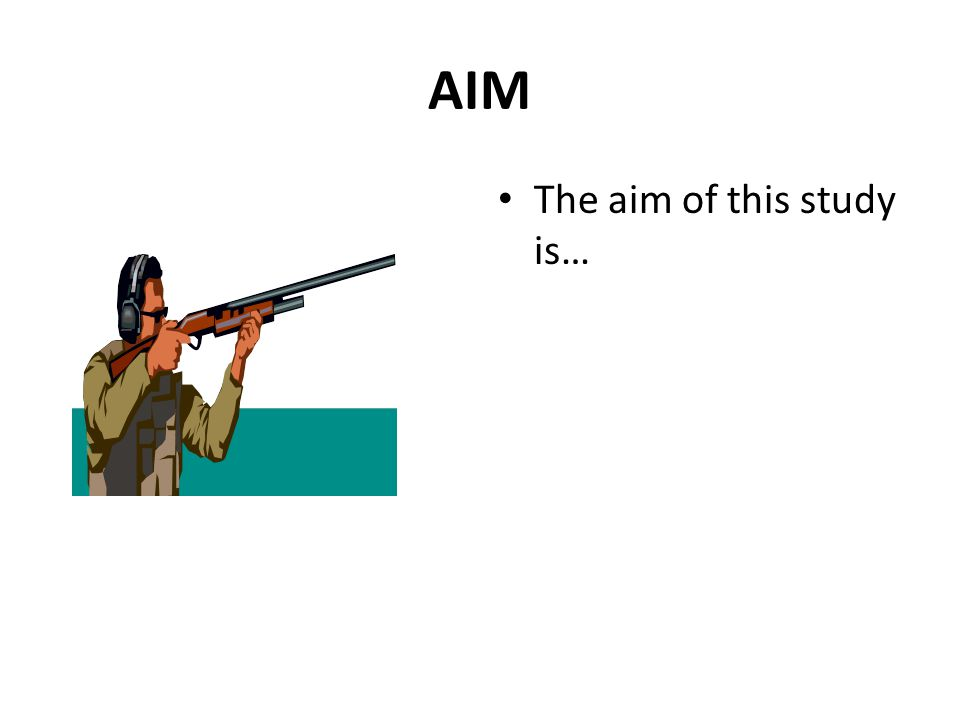 AIM The aim of this study is…