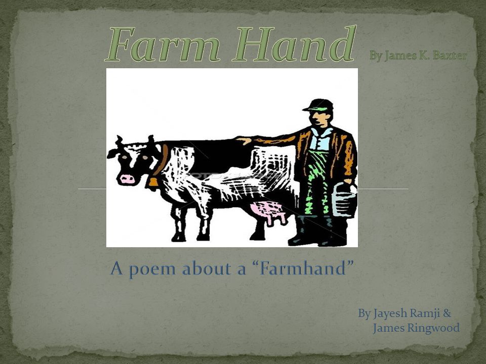 What message is portrayed in the Farmhand .