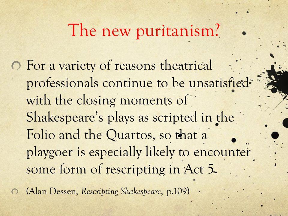 The new puritanism.