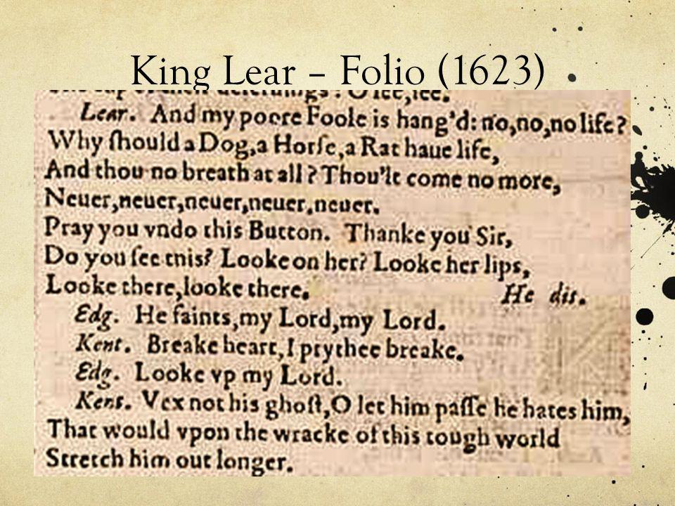 King Lear – Folio (1623)