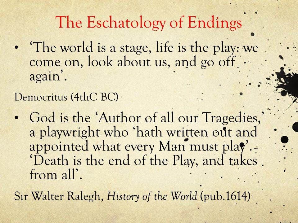 The Craft of Endings: some questions and tentative answers 6) How many plays end with the promise of offstage discussion.