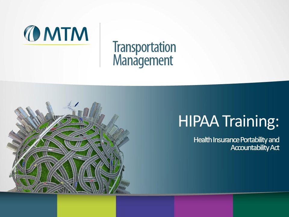 HIPAA Training: Health Insurance Portability and Accountability Act