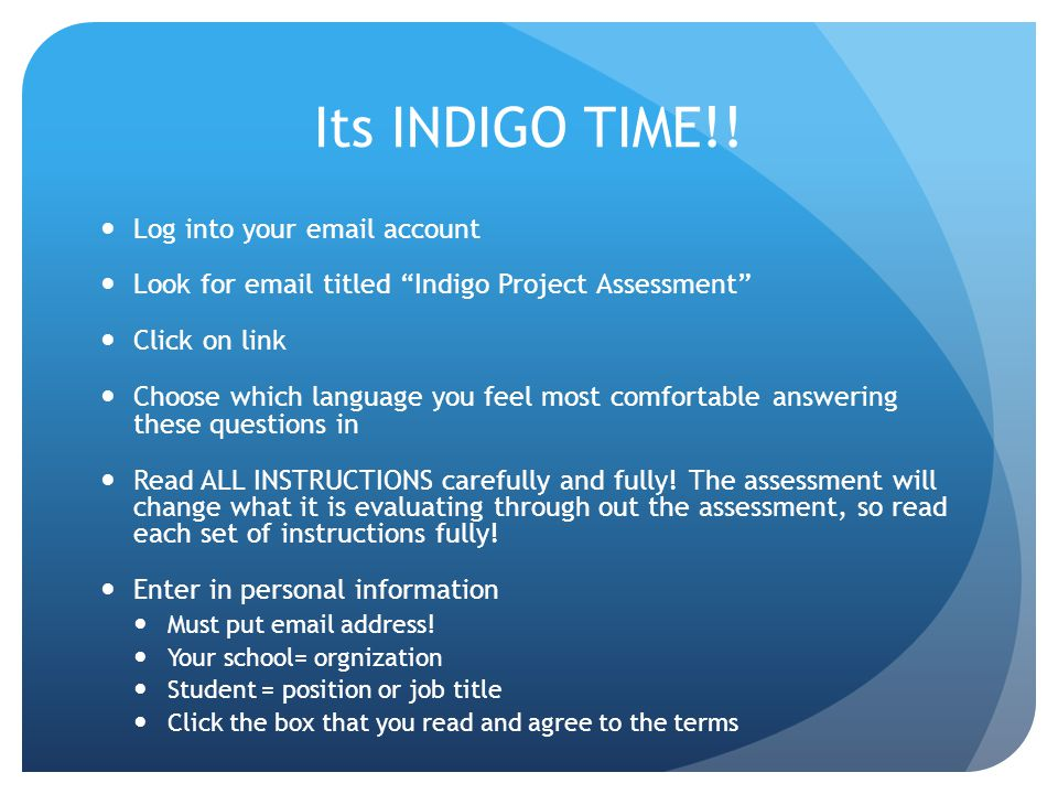 Its INDIGO TIME!.