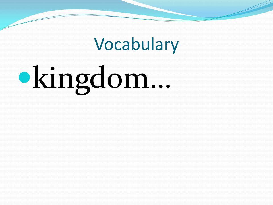 Vocabulary kingdom…