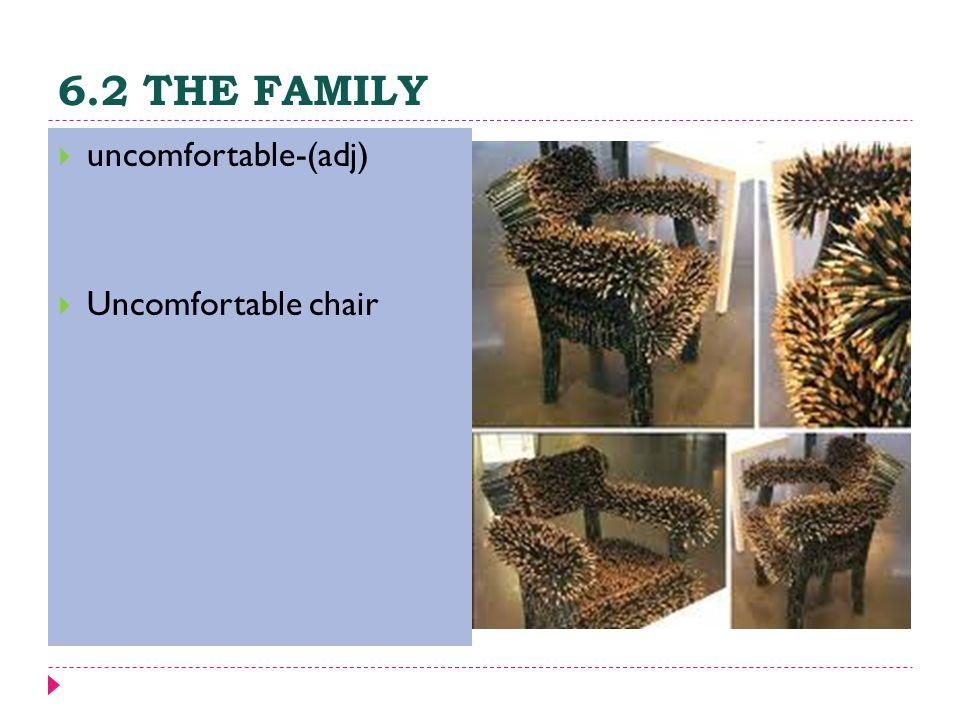 6.2 THE FAMILY  uncomfortable-(adj)  Uncomfortable chair