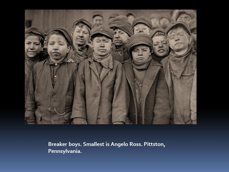 Breaker boys. Smallest is Angelo Ross. Pittston, Pennsylvania.