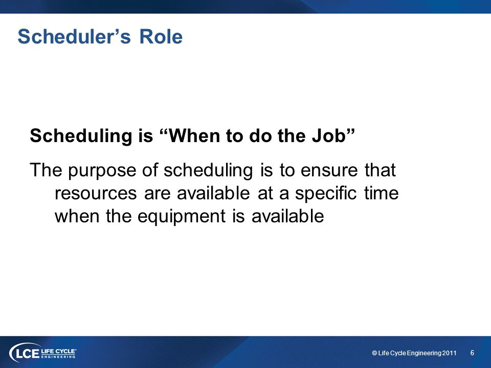 17 © Life Cycle Engineering 2011 Lines of Responsibilities This is not the proper chain of reporting