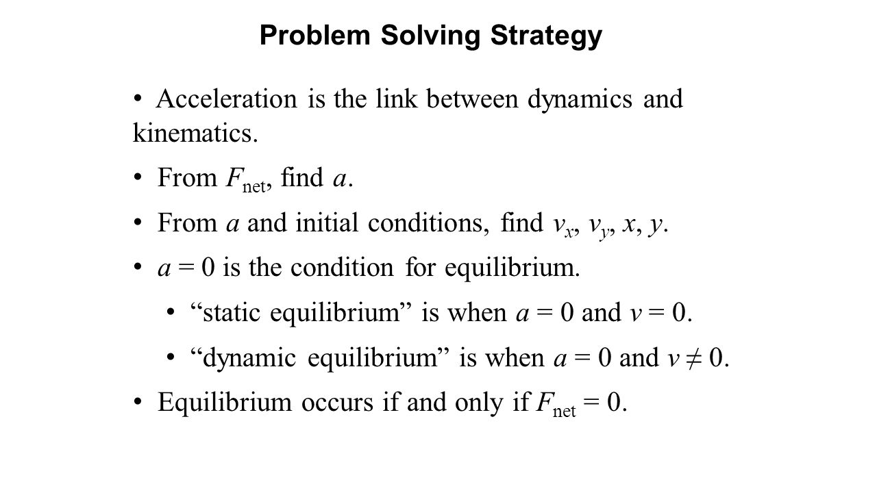Acceleration is the link between dynamics and kinematics.